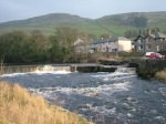 Settle Weir & Fish Pass. Click for bigger picture.